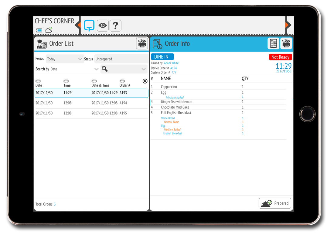 Kitchen Display System - Manage orders sent to the kitchen ...