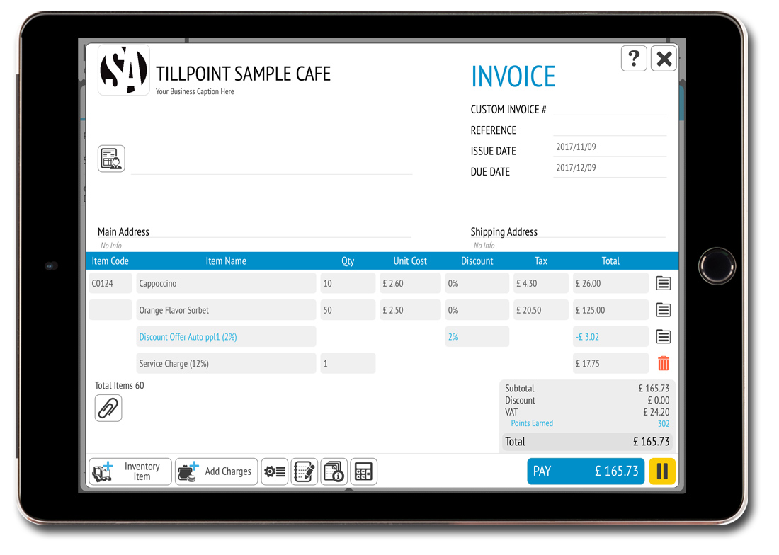 Features Invoicing