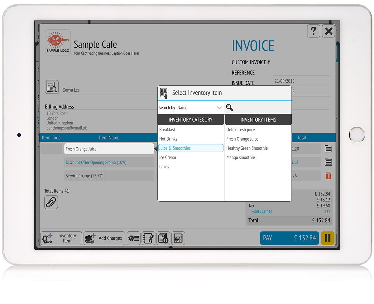 tillpoint epos invoicing efficient invoice creation