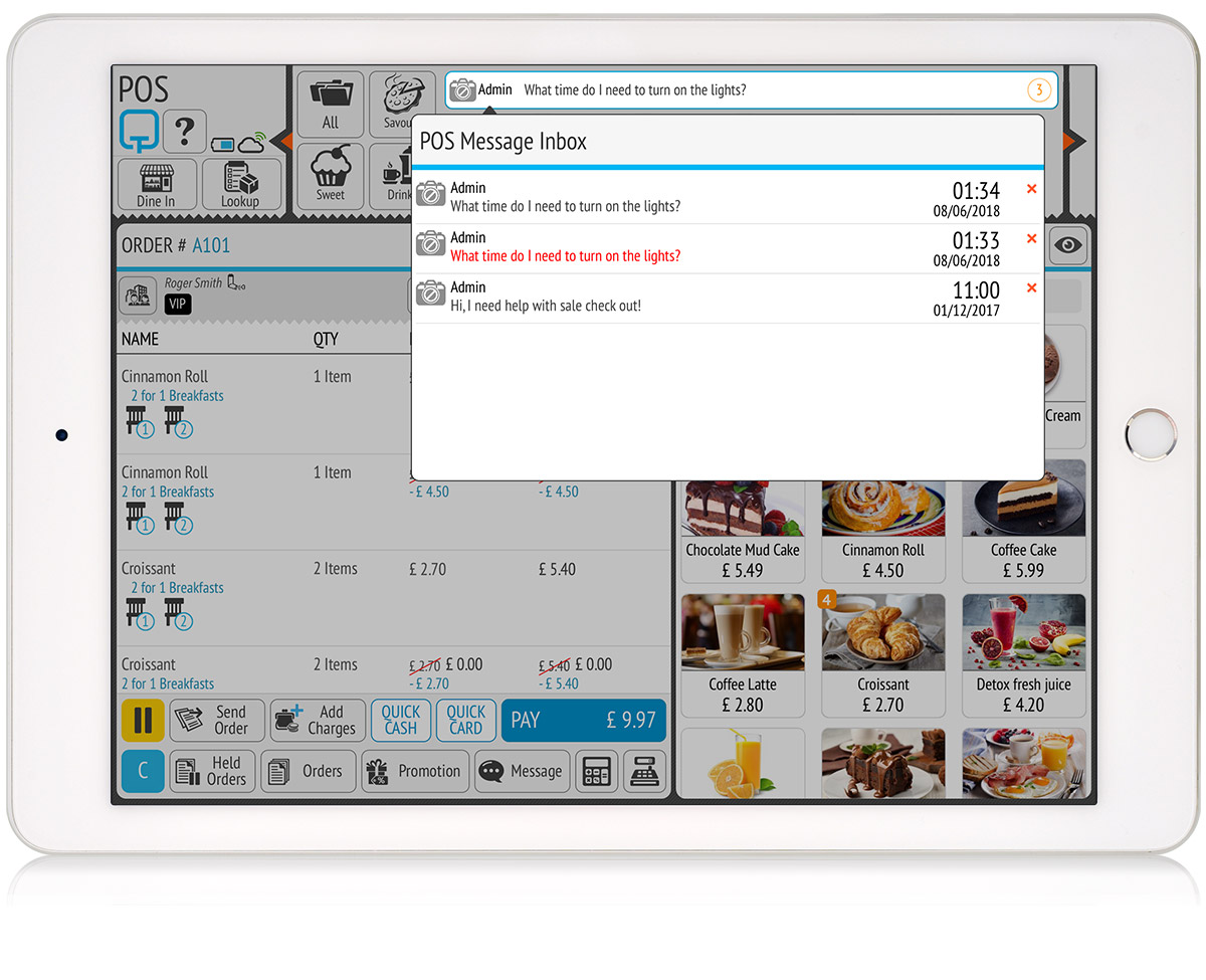 tillpoint epos pos send and receive messages