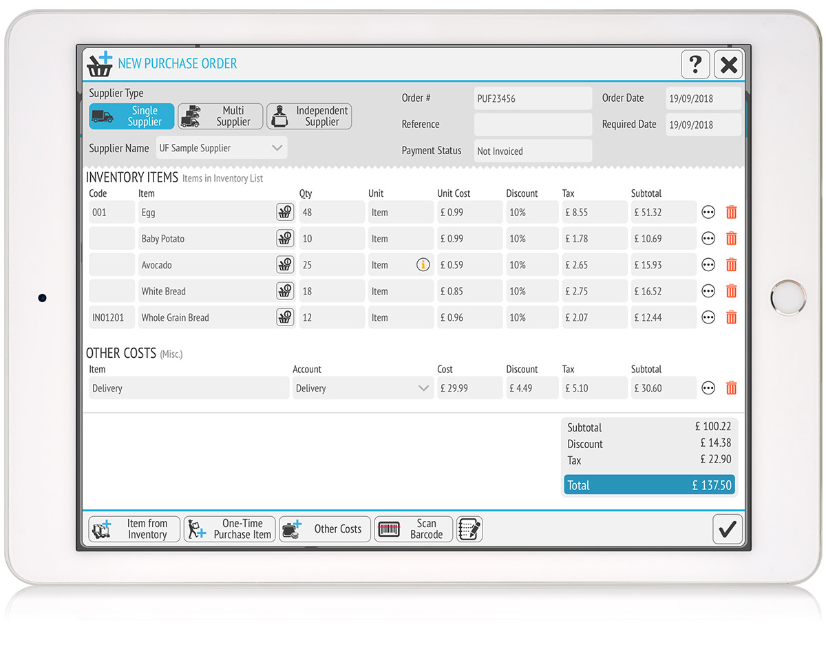 tillpoint epos purchase orders management
