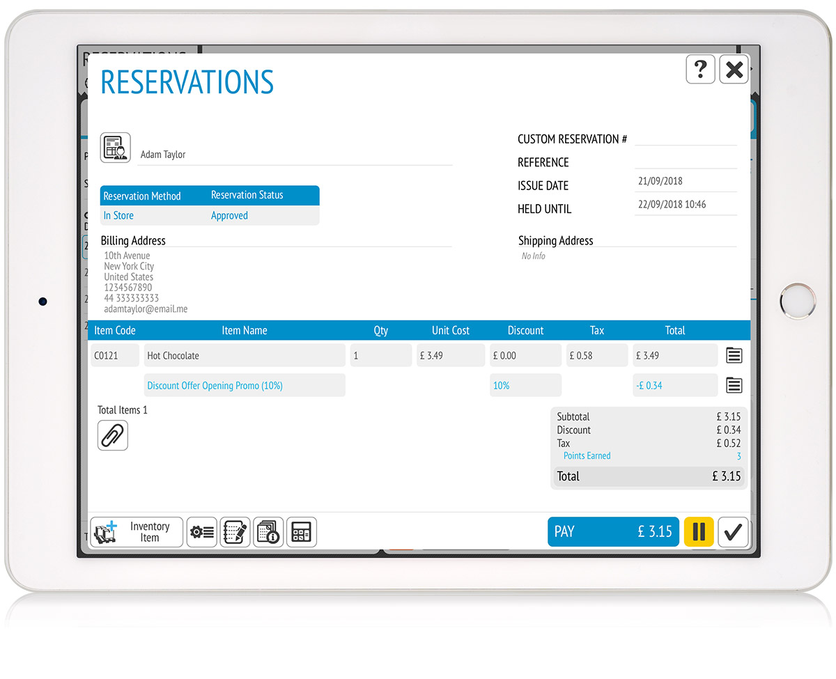 tillpoint epos reservations data